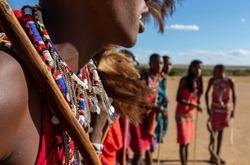 Masai Mara wildlife and Masai warriors