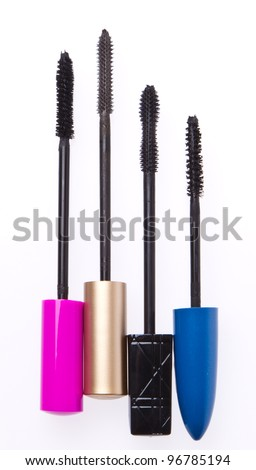 mascara set isolated on white background - stock photo