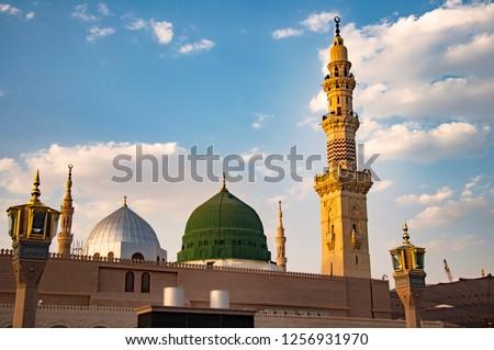 Masjid Nabawi - Prophet Mosque in Madinah al-Munawwarah.