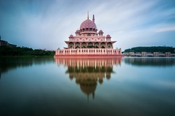 Masjid Putra aka Putra Mosque one of the great structure/architecture located at Putrajaya