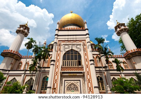 Sultan Mosque Singapore Picture on Masjid Sultan Mosque  In Singapore Stock Photo 94128913