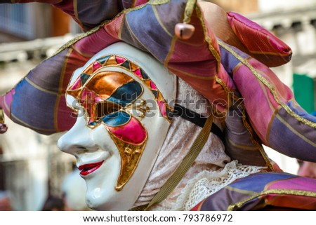 mask at Venice Carnival. Venice Carnival #793786972