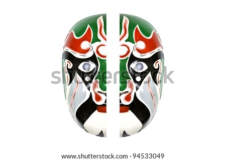 mask color isolated on white