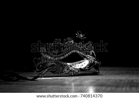 Mask of mystery (black and white) #740814370