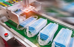 mask production line use of polypropylene as raw materials to manufacture melt blown cloth.
