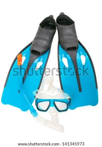 Mask, snorkel and flippers for summer fun