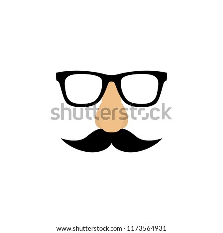 b977c9e6bdae Vector illustration Mask with glasses fake nose and mustache.