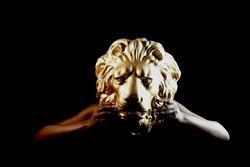 Mask, Women behind a lion face, Art