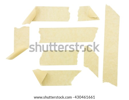 masking tape isolated on white background (clipping path includes)