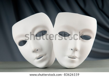 Masks with theater concept