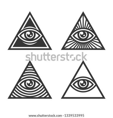 Masonic Illuminati Symbols, Eye in Triangle Sign.