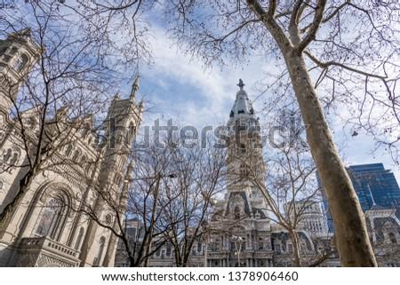 Masonic Temple and City Hall center city Philadelphia, Pennsylvania, part of Freemasonry or Masonry