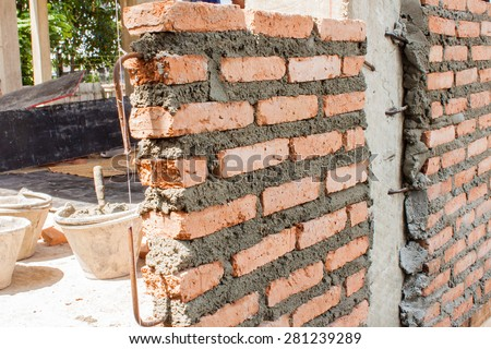 Free photos Brick wall small house building construction site work