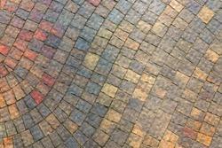 masonry wall paving stones as a background close up
