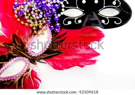 masquerade ball masks and beads