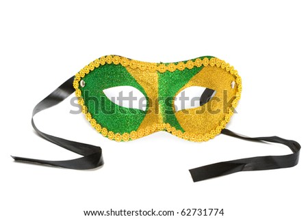 masquerade mask isolated on white background - stock photo