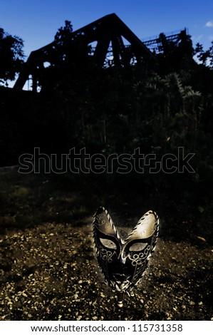 Masquerade - Venetian Mask and Old Bridge