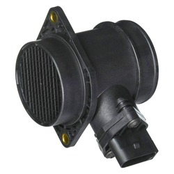 Mass air flow meter on white background.