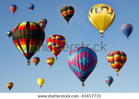 Mass Ascension of Hot Air Balloons