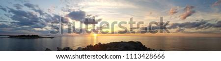 Massachusetts Sunset Panorama #1113428666