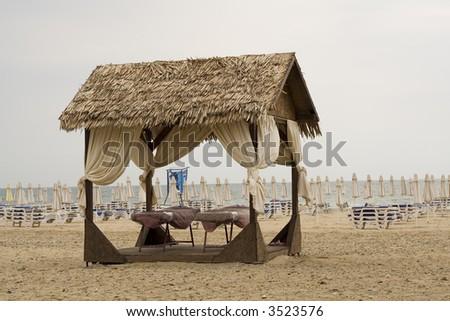 Massage center on the beach