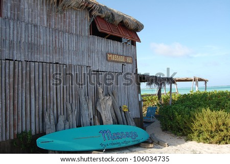 Massage hut in Lac Bay in Bonaire