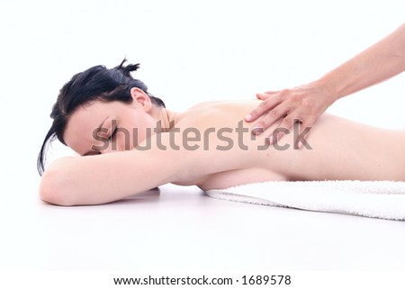 massage in spa - stock photo