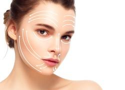 Massage lines face