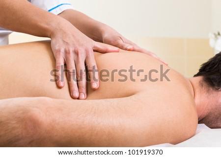 Massage makes a man a woman in a beauty salon