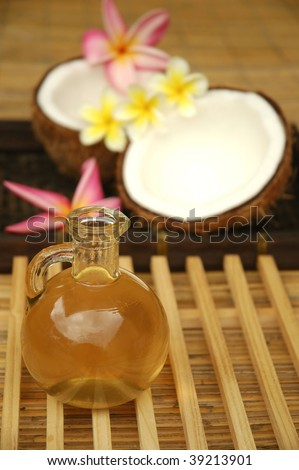 Massage oil and coconut