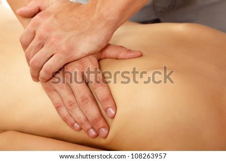 massage woman young beautiful
