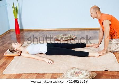 Masseur makes Thai massage girl