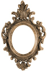 Massive old stylistic mirror frame