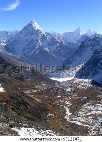 Massive peaks and valleys in the Nepalese Himalaya