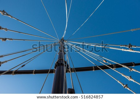 Mast of a sailing ship #516824857