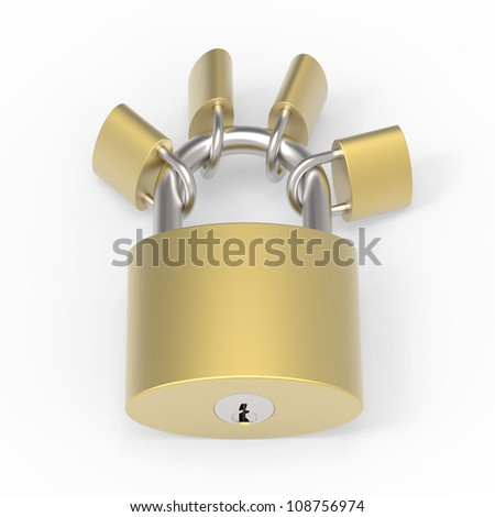 Master and minor lock are locked together
