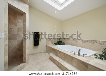 Master bath in luxury home