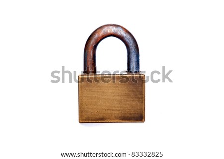 master key on white backgrounds - stock photo