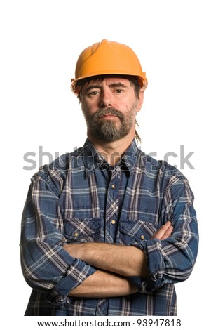 Master of construction in the helmet.