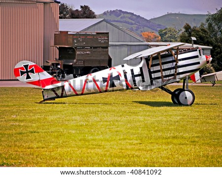 MASTERTON, NEW ZEALAND- NOVEMBER 14: WW1 Air Battle Remembrance Day:Aircraft and Dog-fight displays. on November 14 2009 in Masterton NZ.