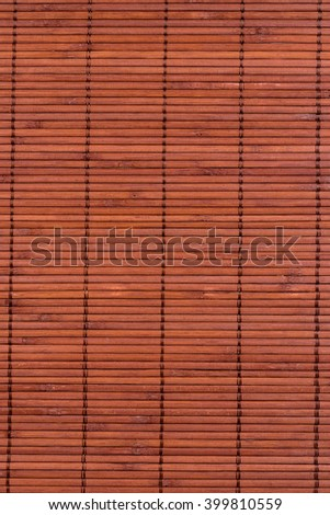 mat for the kitchen made of thin bamboo strips