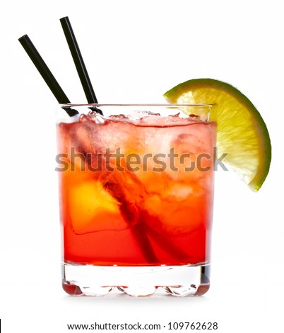 Matador cocktail drink isolated on white background