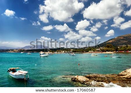 Matala coastline. Crete island. Greece.