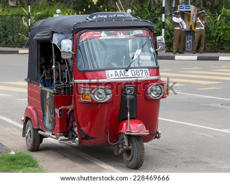 matara sri lanka november 5 2014 auto rickshaw or tuk tuk on the street of matara most tuk. Black Bedroom Furniture Sets. Home Design Ideas