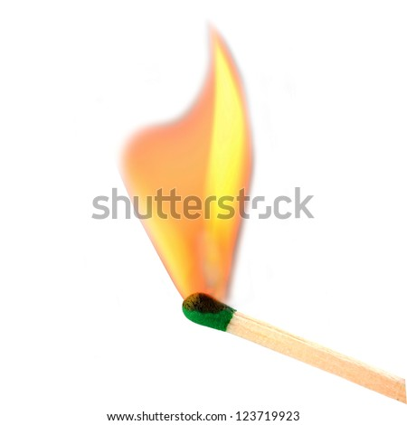 Match bursting to flame