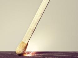 Match Ignition Close Up