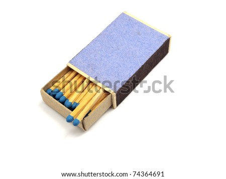match in a box on a white background