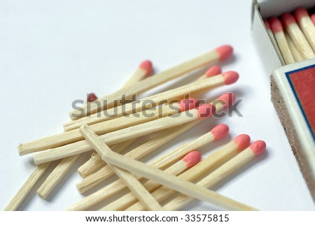 matches and a match box, concept of starting a fire