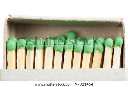Matches in a box illustrating concept of cohesion