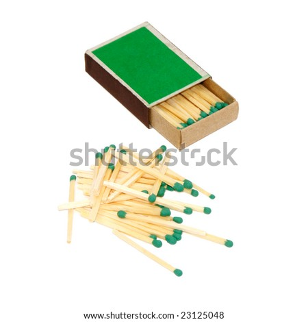 Matches isolated on a white background - stock photo